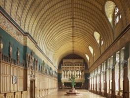 Reprezentační prostory odrážejí představu architekta o vztahu mezi objemem a