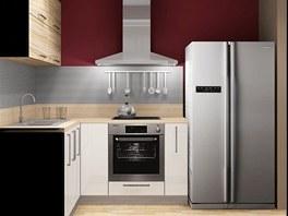 Americká lednice nahrazuje v teplém panelákovém bytě i spíž.