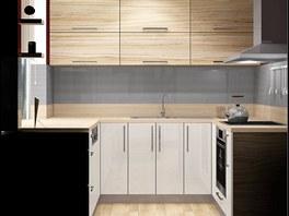Kuchyně vyrobená na míru využívá každý centimetr kuchyňského koutu.