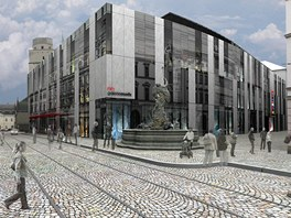 Plánovaný vzhled olomouckého obchodního domu Prior po rekonstrukci.