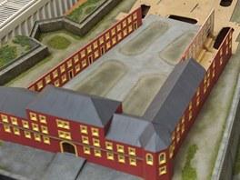 Mírovští vězni tvoří model svého vězení. Rozpracovanou zmenšeninu si zatím...