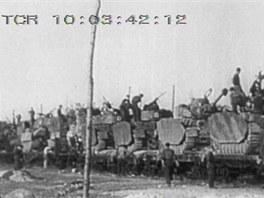Přísun nových tanků Pz.Kpfw. IV na frontu