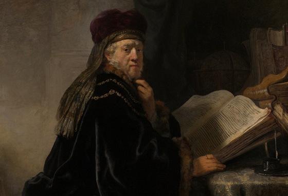 Rembrandt Harmensz. van Rijn: Učenec v pracovně