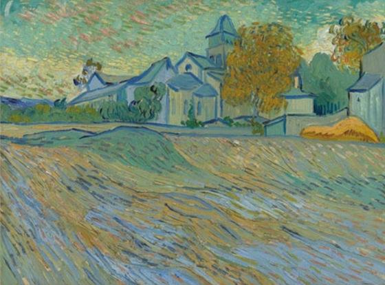 Ze sbírky Elizabeth Taylorové - Vincent Van Gogh: Pohled na psychiatrický ústav