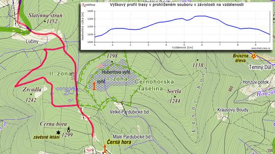 Výjezd z Pece přes Zrcadla na Černou horu k bývalé konečné stanici staré