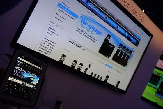 Nové aplikace pro systém Viera Connect zahrnují i možnost ovládání tabletem