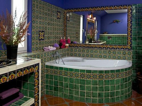 Koupelna v mexick�m stylu