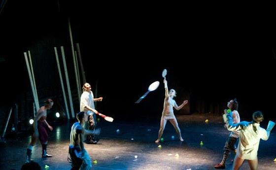 Z představení Slapstick Sonata - Work in Progress: ukázku z chystané inscenaci