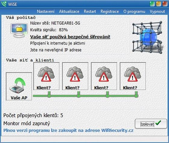 Česká aplikace WiSE zjistí podrobnosti o zabezpečení vaší bezdrátové sítě a