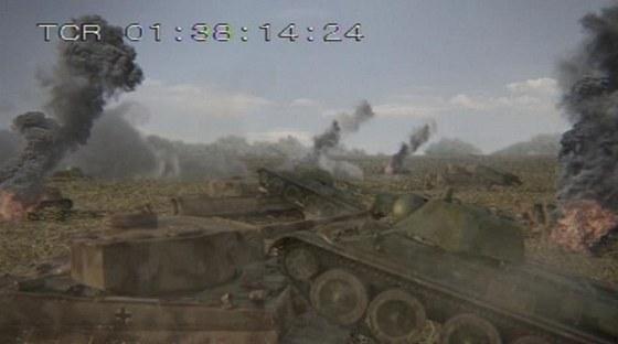 Osádky sovětských tanků často německé tanky taranovaly