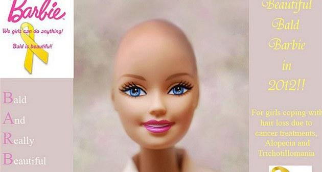 Bald is beautiful! Kampaň chce po americké firmě Mattel, aby začala vyrábět