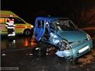 Čtvrteční tagická nehoda mezi Lipníkem nad Bečvou a Hranicemi (19. ledna 2012).