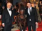 Steven Spielberg na londýnské premiéře filmu Válečný kůň