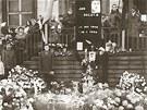Tryzna za Jana Palacha na Mírovém náměstí v Ústí nad Labem