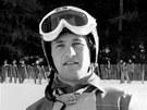 Rakušan Franz Klammer předvedl na olympiádě v Innsbrucku nový typ sjezdařských