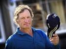 Bývalý rakouský sjezdař Franz Klammer na golfovém turnaji ve skotském St.