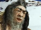 Model pračlověka v Dinoparku v Liberci