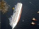 Pohled na naklon�nou lo� z pta�� perspektivy (14. ledna 2012)