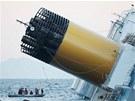 Z�chran��sk� lo� u potopen� lodi Costa Concordia (15. ledna 2012)