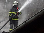 Hasiči zasahovali u požáru památkově chráněné dílny v areálu Hornického muzea v