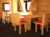 Návrh interiéru nové Labské boudy od Jany Kuzbachové