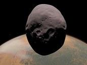 Měsíc Phobos se svým mateřským Marsem