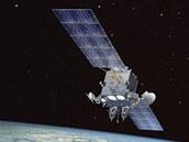 Satelit AEHF-1 v představě ilustrátora