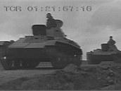 Přesun sovětských lehkých tanků