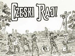Ukázka protičeské polské tiskové agitace v době plebiscitu.