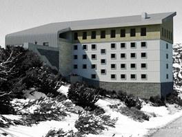 Návrh na přestavbu Labské boudy od Elišky Oberhoferové