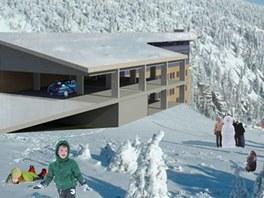 Návrh na přestavbu Labské boudy od Markéty Jelínkové