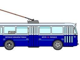 Tak nějak vypadaly první trolejbusy Škoda 7Tr, které zahajovaly v roce 1952