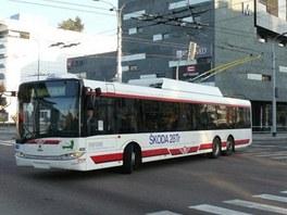 Nejmodernější část trolejbusové flotily pardubického Dopravního podniku, vůz