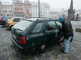 Parkování na náměstí TGM ve Dvoře Králové nad Labem