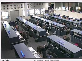 Záběry z houstonského Mission Control Center řídícího ISS