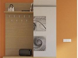 Vizualizace: Předsíňovou sestavu lze zavěsit na stěnu.