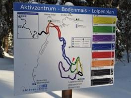 Mapka lyžařských tratí areálu Bretterschachten