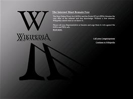 Jeden z návrhů stránky, kterou chce vyvěsit Wikipedia na protest proti
