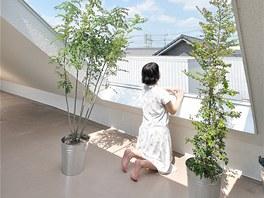 Dům leží v rezidenční čtvrti na okraji města Okazaki v prefektuře Aiči.