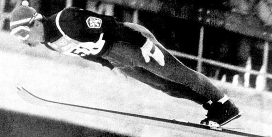 SKOK DO HISTORIE. Jiří Raška získalna olympijských hrách v Grenoblu 1968 zlatou