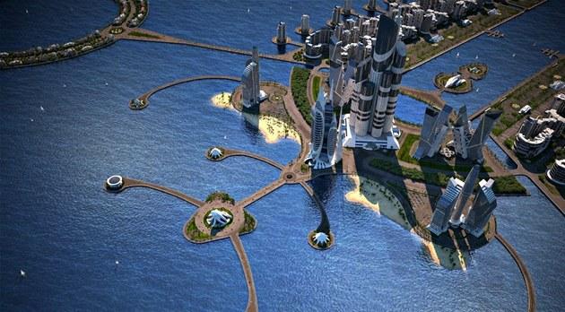 Projekt Khazar Islands v p�edstavách ázerbájd�ánského developera.