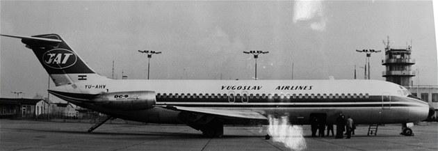 Letadlo DC-9 spole�nosti Jugoslovenski Aerotransport