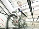 Duch fanatického bikera v obchodním centru