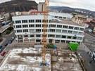 Opuštěné staveniště na Mírovém náměstí v Ústí nad Labem
