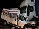 P�i tragick� nehod� na Mohelnick�m kopci narazila dod�vka do protijedouc�ho