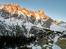 Východ slunce v Malé Studené dolině