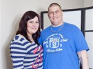 Stále usměvavý pár Anna a David se chtějí dohromady zbavit 90 kilogramů.