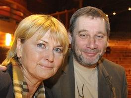 Herečka Eliška Balzerová a ředitel pražského Divadla na Fidlovačce Tomáš Töpfer