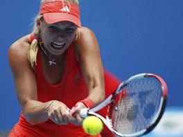 OSMIFINÁLE. Světová jednička Carolina Wozniacká postoupila na Australian Open v Melbourne už do osmifinále.