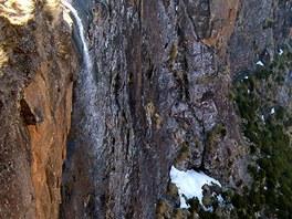 Horní část vodopádů Tugela, druhých nejvyšších na světě